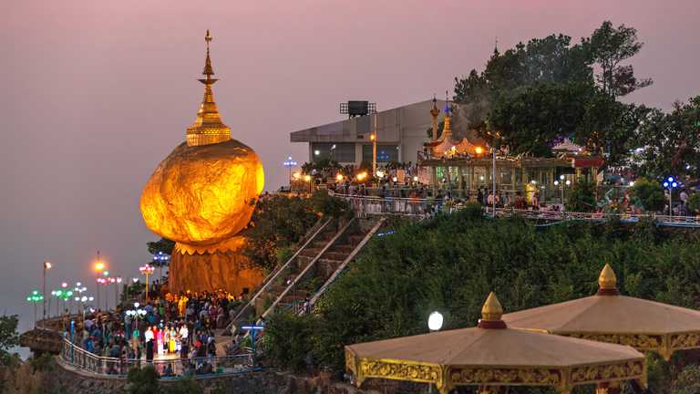 Golden Rock in Myanmar